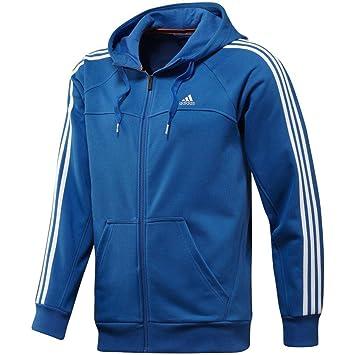 adidas pour Homme Essentials 3 Stripes Entièrement zippé Track Top - Bleu - 632f1e3e0653
