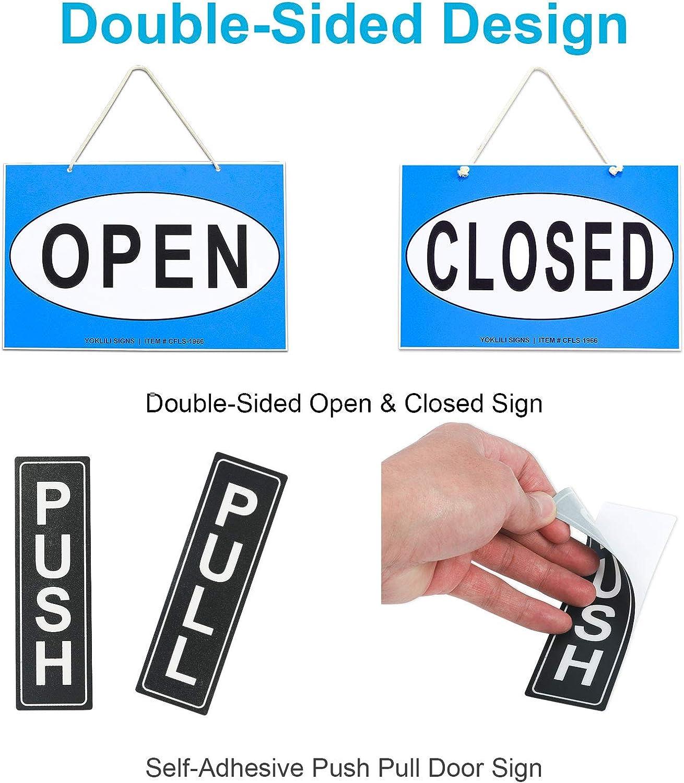 Amazon.com: Señal de horas de negocios, juego de letreros de ...