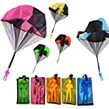 Monyus Parachute Toy 10 PCS Children's Flying Toys Tangle Free Throwing Hand Throw Parachute Army Man Toss It Up and Watching