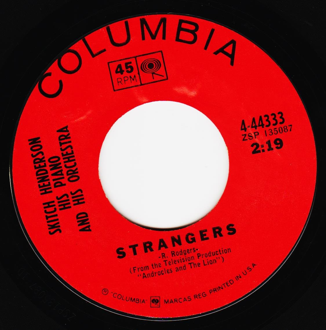green green grass of home / strangers 45 rpm single