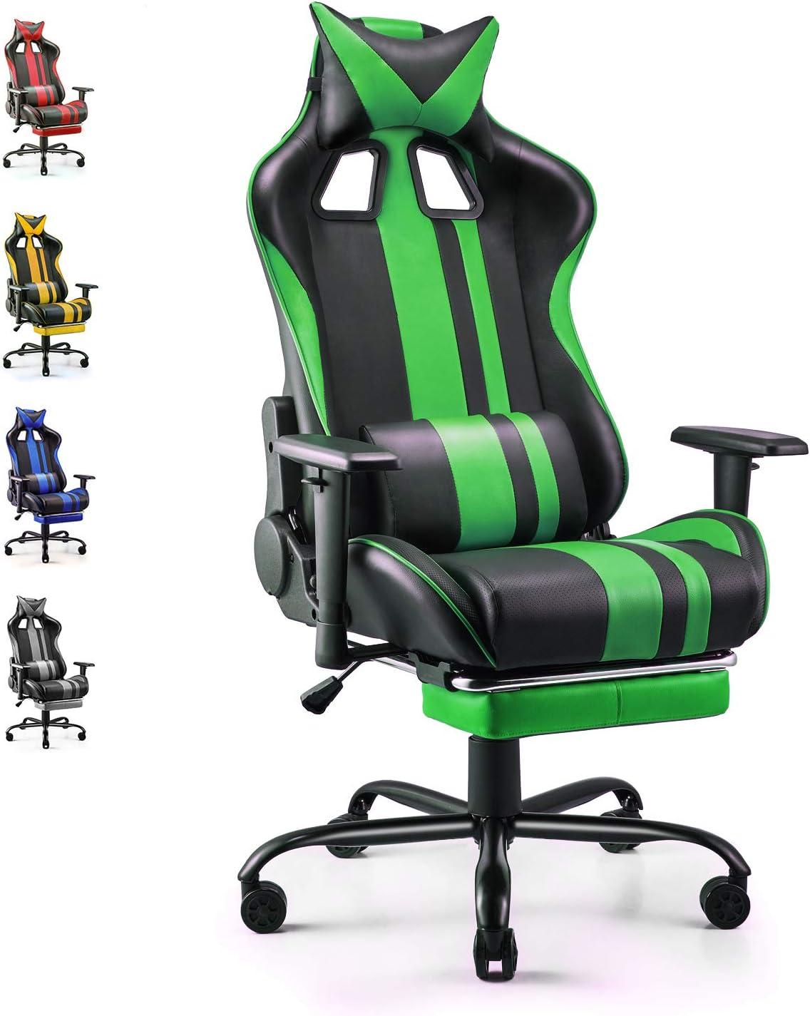gaming stuhl mit fußablage