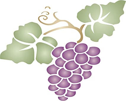 Grapes Reusable Plastic Stencil