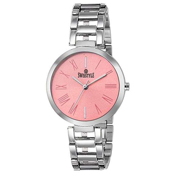 5f12c0cc9e1 Buy SWISSTYLE Analogue Pink Dial Women s Watch -Ss-Lr637-Pnk-Ch Online at Low  Prices in India - Amazon.in
