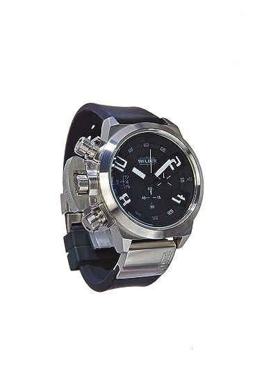 Welder K24-3200 - Reloj para hombres, correa de goma color negro: Amazon.es: Relojes