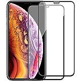 iPhone XS ガラスフイルム iPhone X 強化ガラス【2枚セット】最大硬度9H/高透過率/自動吸着/6DカーブLCD保護フィルムアンチコリジョン指紋保護/全面フルカバー 5.8インチ