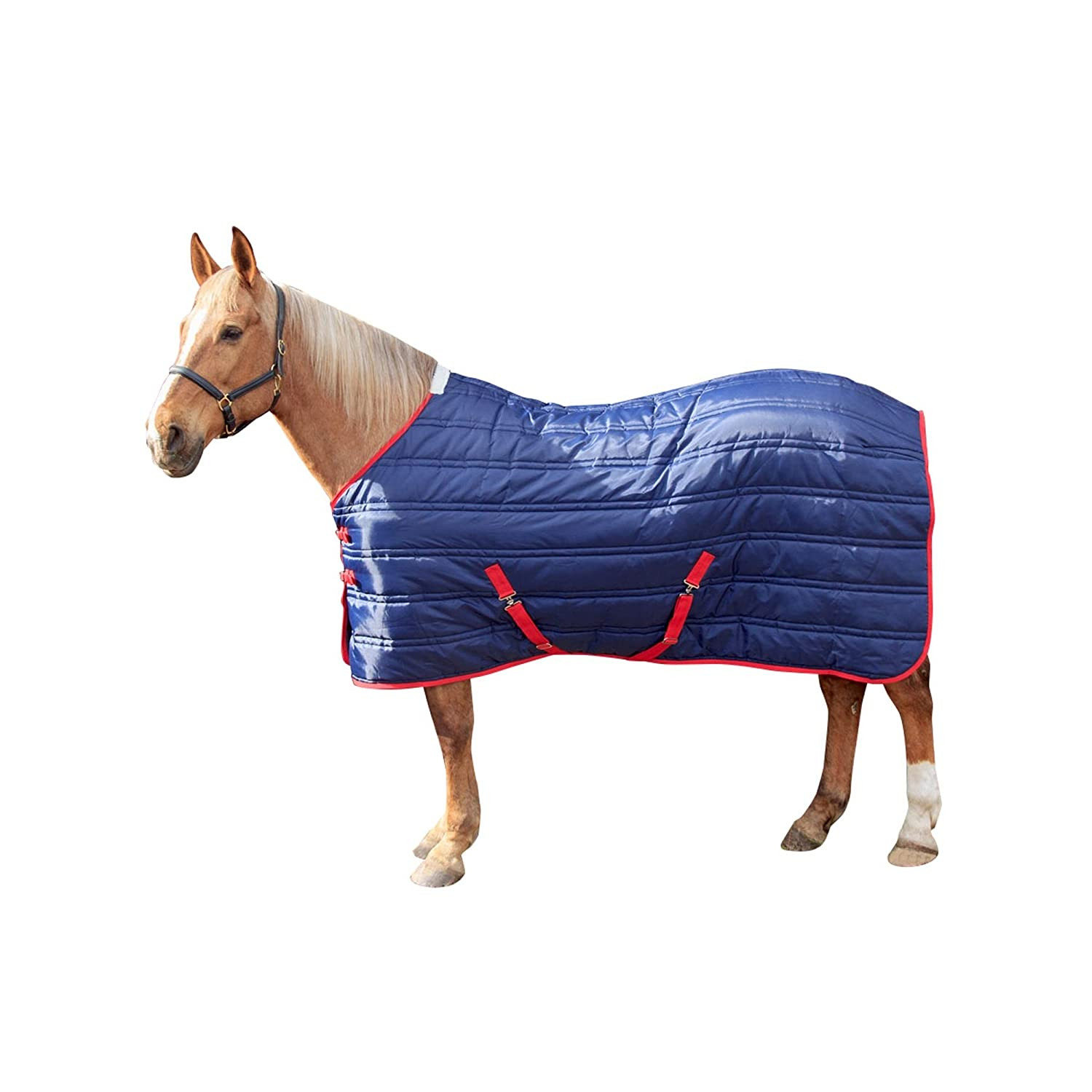 Navy Red 7 ft Navy Red 7 ft Whitaker Thomas 8.8 oz Stable Rug (7 ft) (Navy Red)