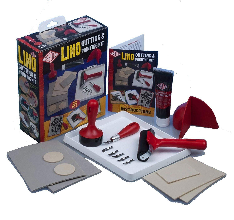 Essdee Lino Cutting /& Printing Kit 23 Pieces