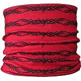 Multifunctional Headwear Écharpe multifonctions Rouge/motif tribal