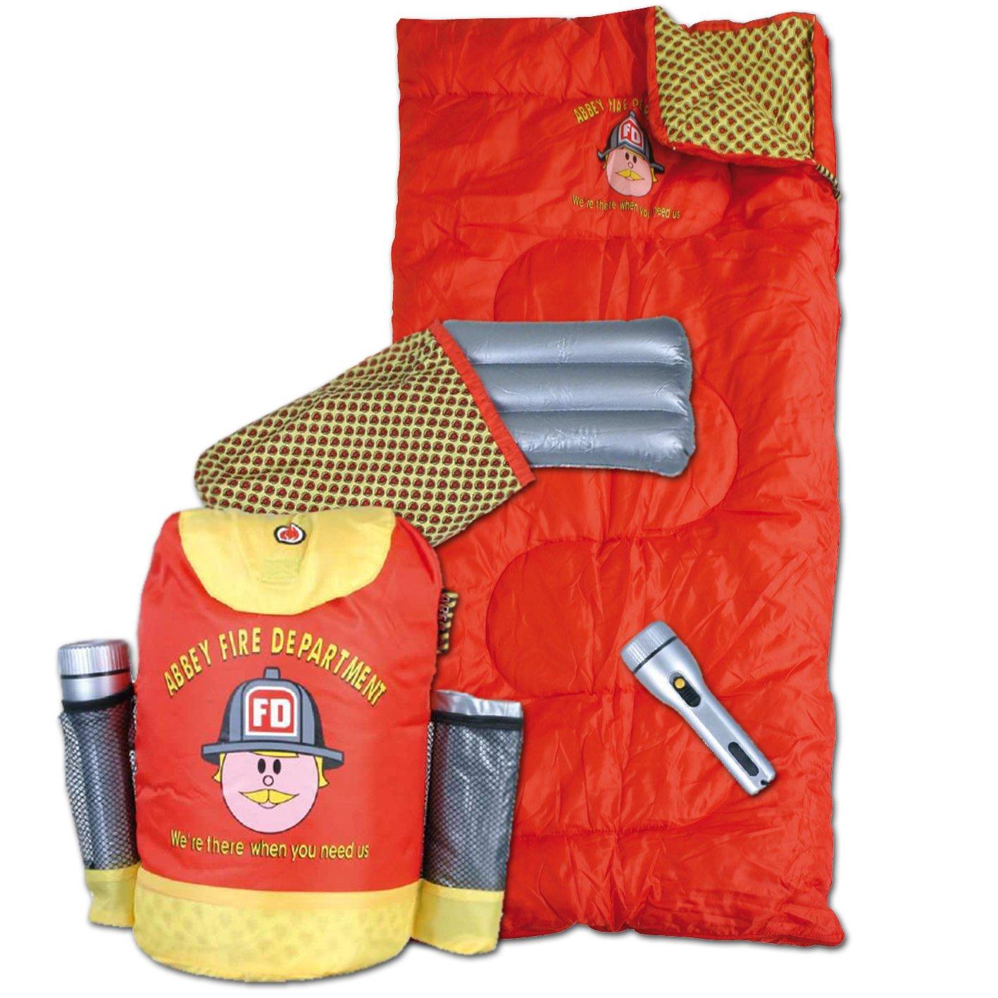Abbey Fire Department - Juego de saco de dormir, almohada ...