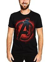 Elbenwald Avengers Herren T-Shirt Logo Marvel Baumwolle Schwarz