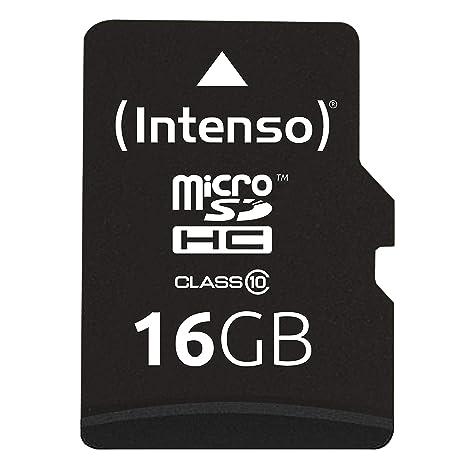 Intenso 3413470 - Tarjeta Micro SD de 16 GB (Adaptador SD Incluido ...