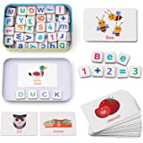 Coogam Wooden Magnetic Letters and Numbers Toys, Fridge Magnets ABC Alphabet Word Flash Cards Spelling Counting Game…