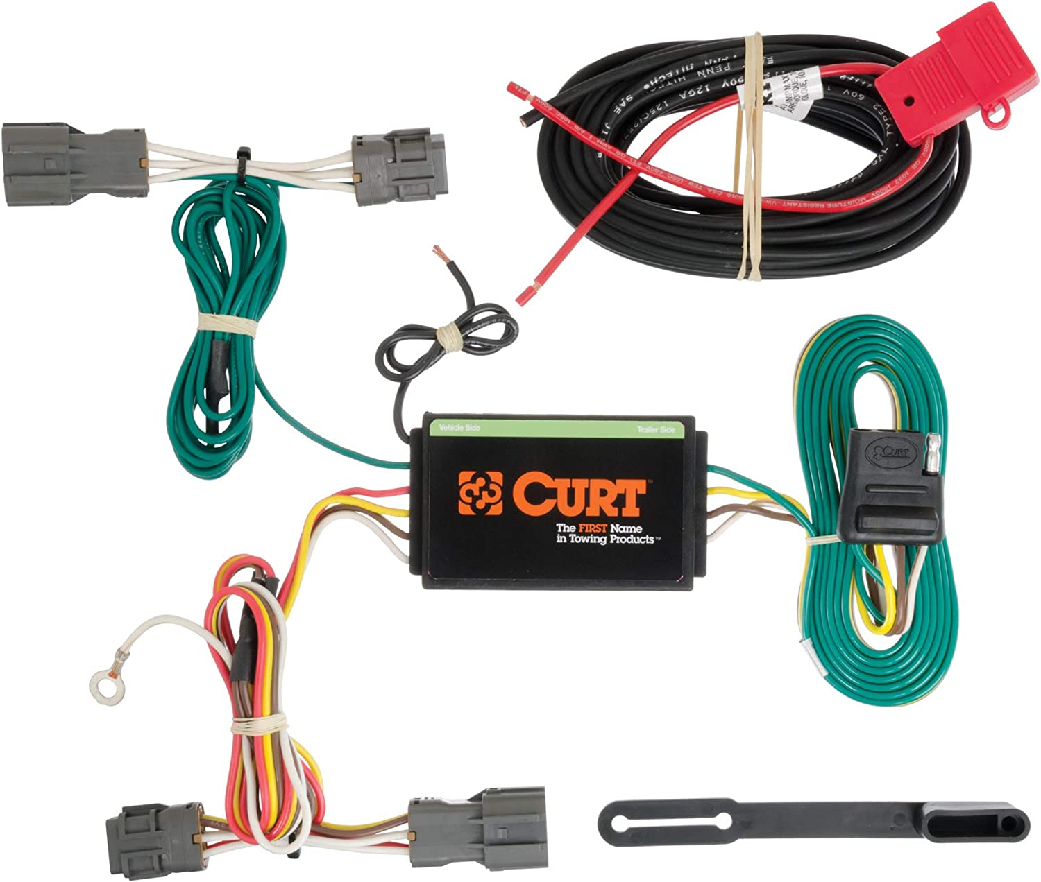 Amazon.com: CURT 56184 Vehicle-Side Custom 4-Pin Trailer Wiring Harness for  Select Kia Borrego, Hyundai Santa Fe: AutomotiveAmazon.com