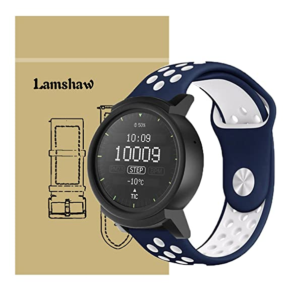 Amazon.com: Ticwatch E Bands, Lamshaw Sport Silicone ...