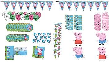 Peppa Pig 1002, Lote Fiesta cumpleaños 12 Invitados, de la ...