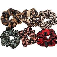 DA2S Scrunchies for Hair Velvet Elastic Ties Women PJ064 Mix 6pcs