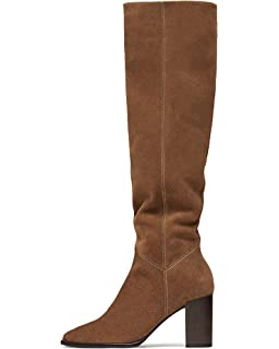 b9da1167657 Massimo Dutti Women's Sand-Coloured Split Suede Cowboy Boots 1195 ...