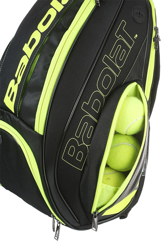 Babolat Pure Black/Fluo Yellow Backpack Bag by Babolat (Image #4)