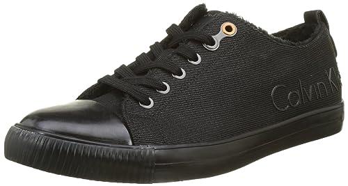Calvin Klein Jeans Arnold Canvas, Zapatillas para Hombre, Negro (Black), 40 EU