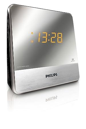71feb5f6f3ad Philips AJ3231 - Radio reloj despertador con gran pantalla (cable de  entrada audio