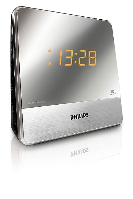 103 opinioni per Philips AJ3231 Radiosveglia con Sintonizzatore FM, Allarme Doppio, Luminosità
