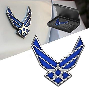 dsycar 3d metal ala azul US Air Force Premium coche cuerpo lateral guardabarros trasero Tronco emblema