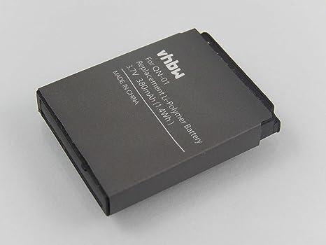 vhbw Batería de polímero de Litio 380mAh (3.7V) para Smart Watch ...