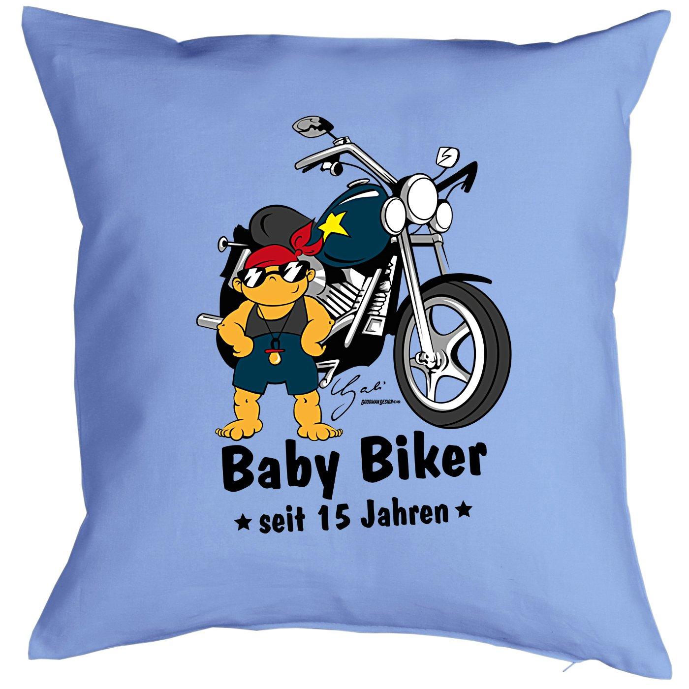 15. Cumpleaños Infantil Sprüche/Diseño Cojín: Baby Biker ...