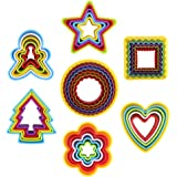 DECORA 37 Pieces Cookie Cutter Mold Set for Biscuit Sandwich Cut Pack of 7