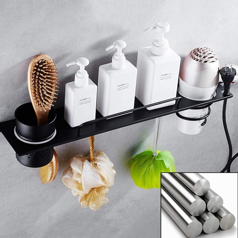 Ghelf per Articoli da toeletta scaffale per asciugacapelli da Parete mensole da Bagno e Doccia 43cm Multifunzione mensola da Bagno in Acciaio Inox