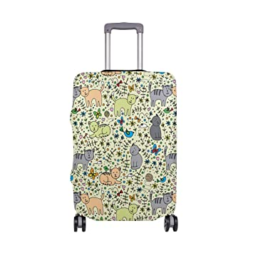 Amazon.com: Gato en el sombrero de viaje, ligero equipaje ...