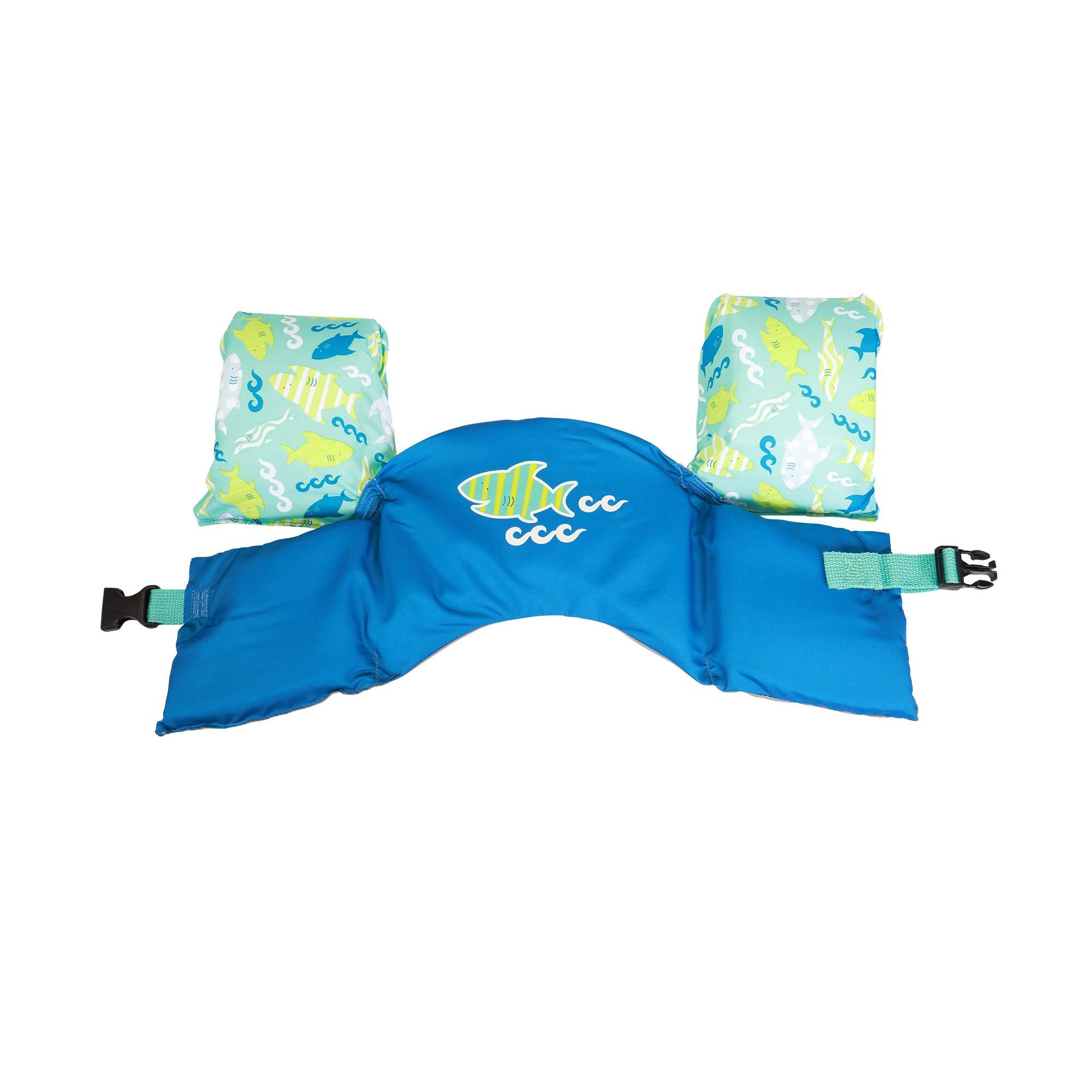 SwimWays Sea Squirts Swim Trainer Life Jacket - Blue Shark product image