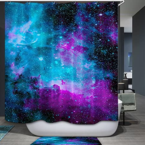 Space Nebula Universe Wolf Pattern Retro Galaxy Tribal Patterned 60 x 72 Polyester Fabric Waterproof Shower Curtain Bathroom decor