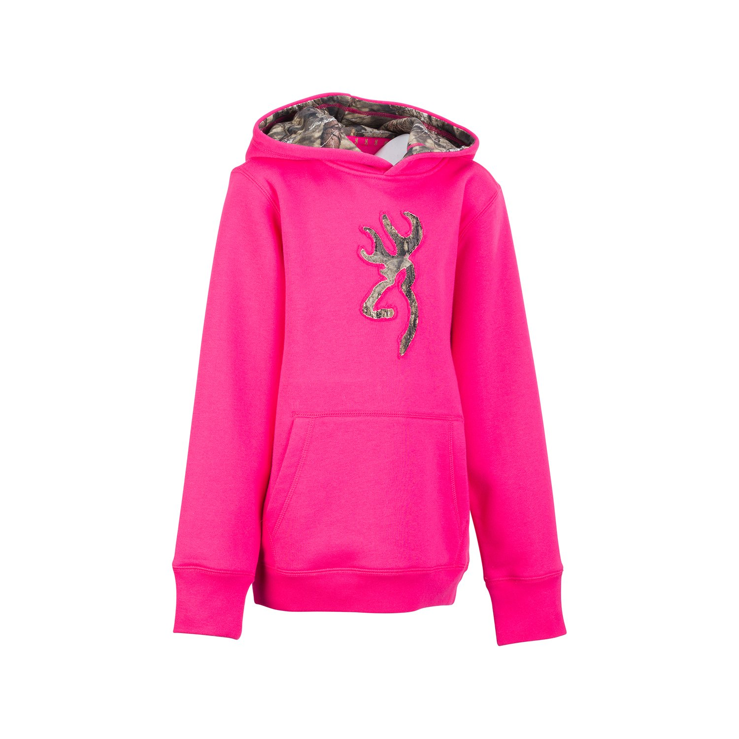 Browning Youth Buckmark Camo Sweatshirt Fuchsia M Signature Products Group