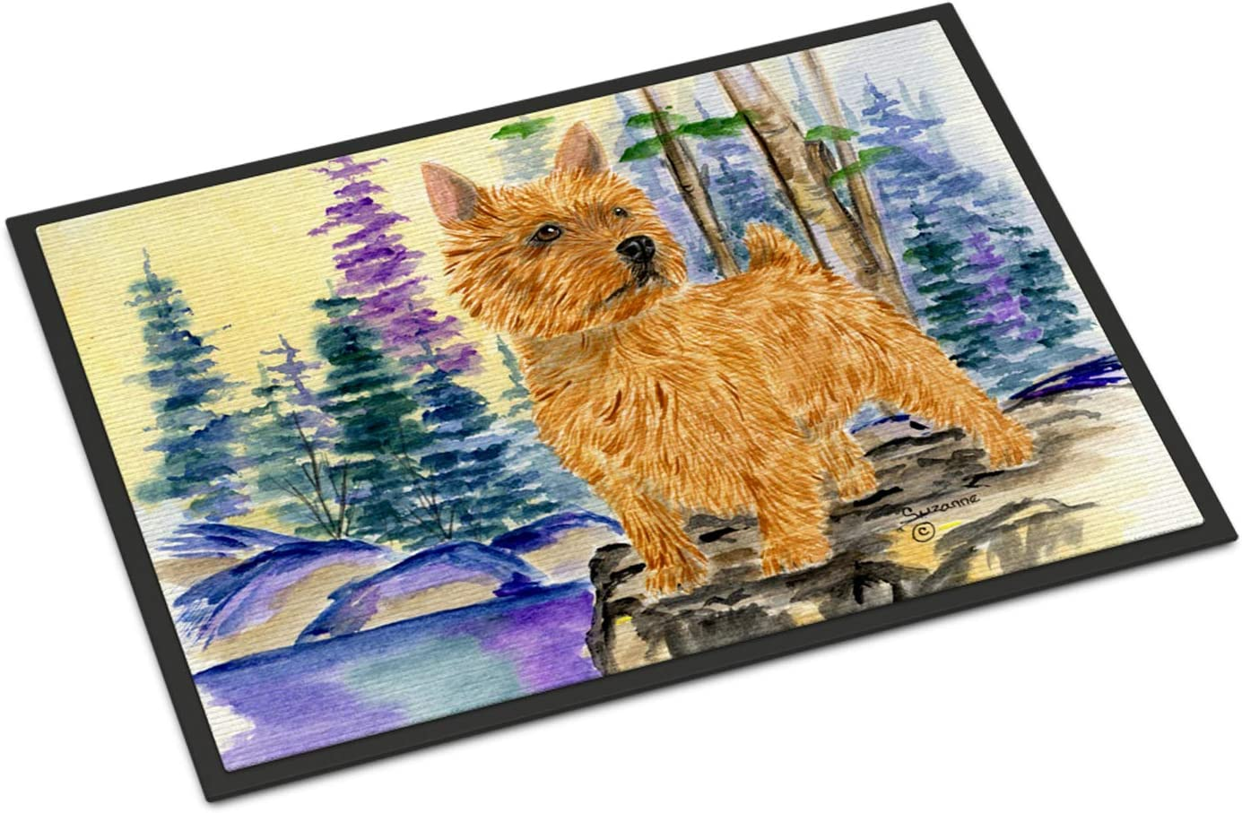 Caroline s Treasures SS8011MAT Norwich Terrier Indoor Outdoor Mat 18×27 Doormat, 18H X 27W, Multicolor