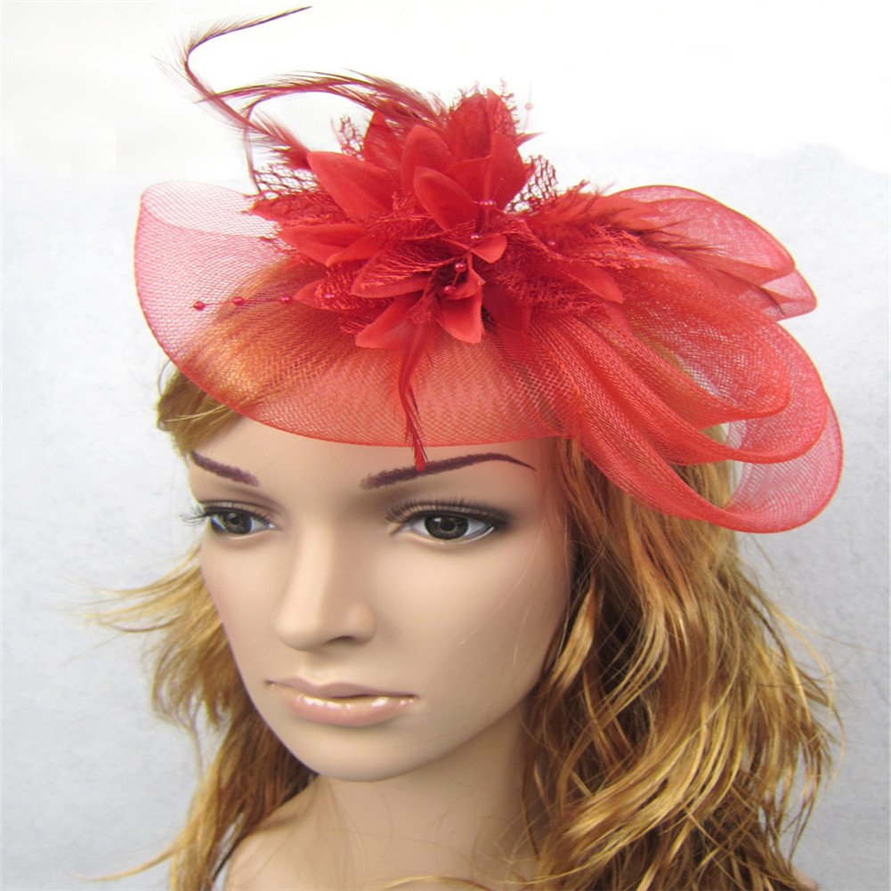 XY Fancy Girl Cute Flower Hair Clasp Feather Ribbon Hair Accessory Headband XY FANCY-CA-1811