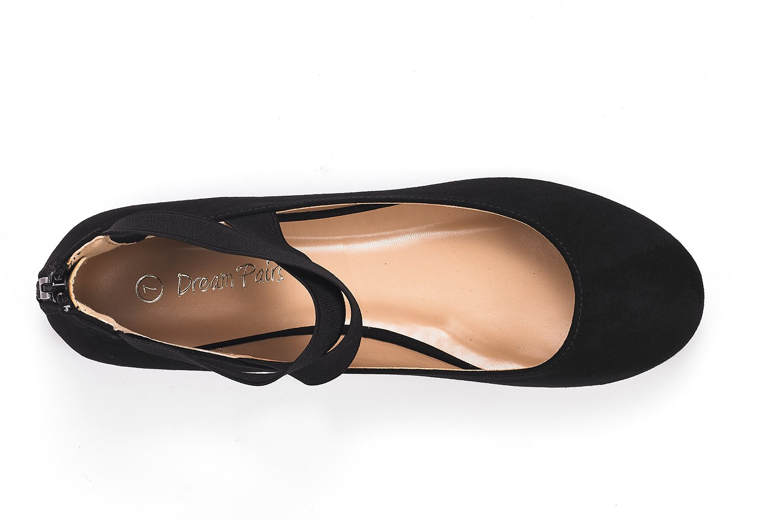 DREAM PAIRS Women's Sole_Stretchy Black Fashion Elastic Ankle Straps Flats Shoes Size 9 M US by DREAM PAIRS (Image #4)