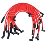 JDMSPEED New Red 10.5mm Racing Spark Plug Wires Set For Ford 5.0L 5.8L, SB SBF 302