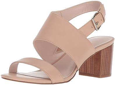 c6070fe12c44 Nine West Women s Forli Heeled Sandal Light Natural Leather 5.5 Medium US