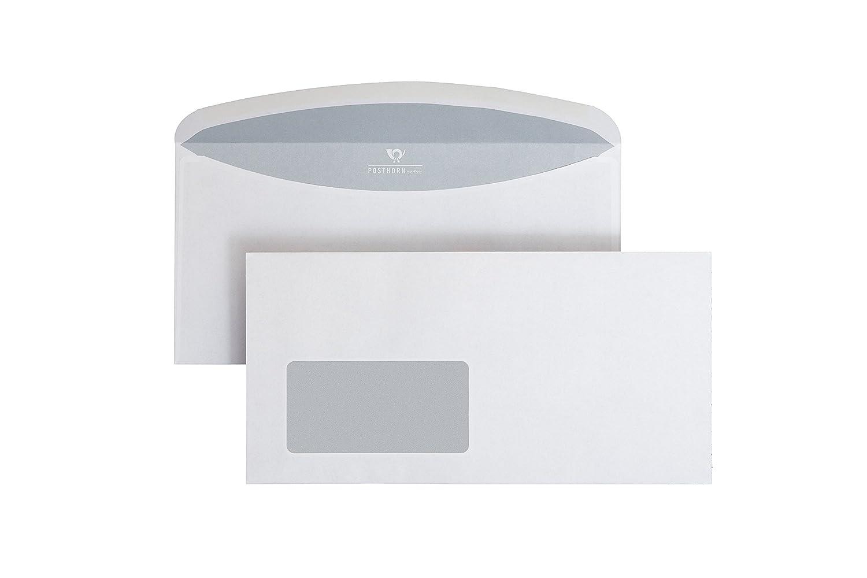 Post Horn Velox 02526179kuvert IER Custodia con Finestra, ISK, Velox 3000, nasskl ebend, C6/5, 114X 229mm, 75G, 1000pezzi, bianco POSTHORNvelox