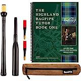 Frazer Warnock Standard Bagpipe Practice Chanter, The Piping Center of Scotland Tutor Book for Highland Bagpipes, 2…