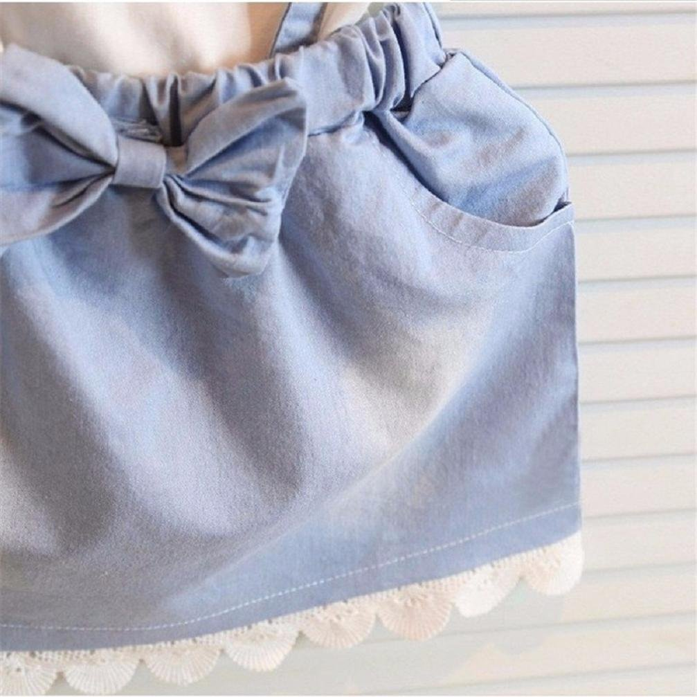 43c4ddc10 Elevin(TM) Toddler Kid Baby Girl Tulle Tutu Skirt Sleeveless Lace Denim Summer  Dresses larger image