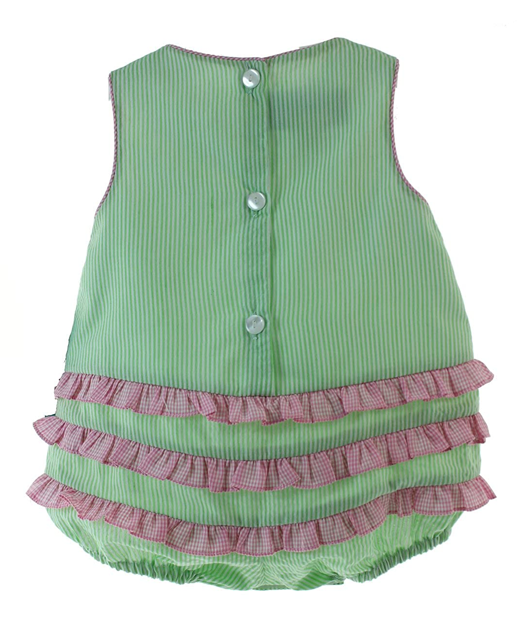 1c5fd1285f6 Amazon.com  Infant Girls Green Sunsuit Bubble Outfit with Watermelons