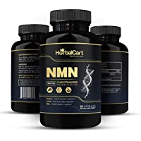 HerbalCart - NMN Supplement 500mg Pure Nicotinamide Mononucleotide | NAD+ Booster | Best Anti-Aging Pills for Men & Women - 30 Capsules