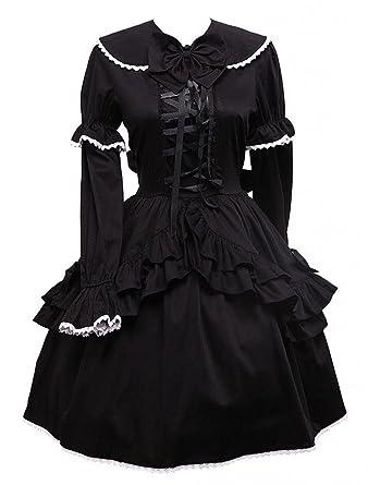 Schwarzes langes basic kleid