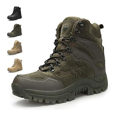 db9698ea29a ENLEN&BENNA Men's Military Boots Tactical Boots Desert Boots Side Zipper  Lightweight Composite Toe Waterproof