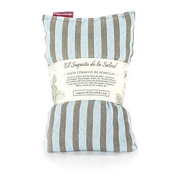 Saco Térmico de Semillas aroma Lavanda, Azahar o Romero tejido Azul con Rayas (Azahar