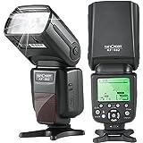 フラッシュ スピードライト K&F Concept ストロボ カメラフラッシュ Canon用 E-TTL対応 1/8000s HSS マスター/スレーブ オートフォーカス Canonデジタル一眼レフカメラに対応 KF-882 (Canonカメラ適用)