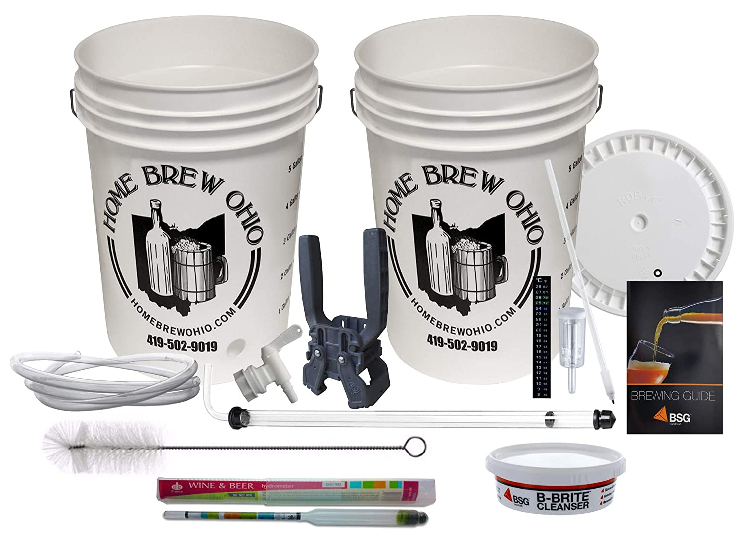 Home Brew Ohio Maestro Homebrew Beer Equipment Kit with Auto Siphon WB-K8FJ-5FEA