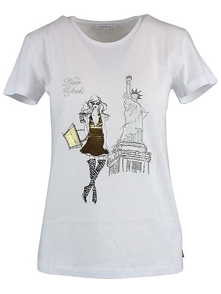 new arrival 2b809 a4957 Patrizia Pepe Luxury Fashion Womens T-Shirt Summer at Amazon ...